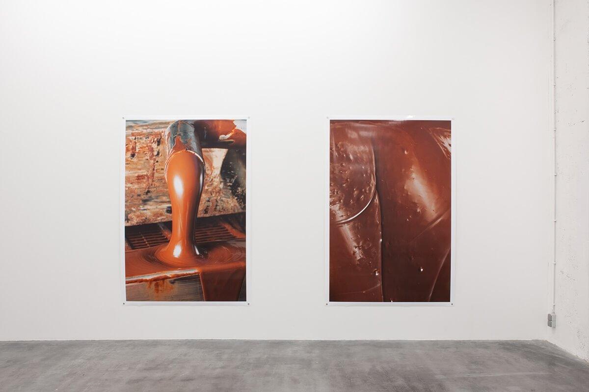 Un-Scene III, Wiels, Brussels, 2015<br /> archival pigment prints on glossy paper, 223 x 152 cm