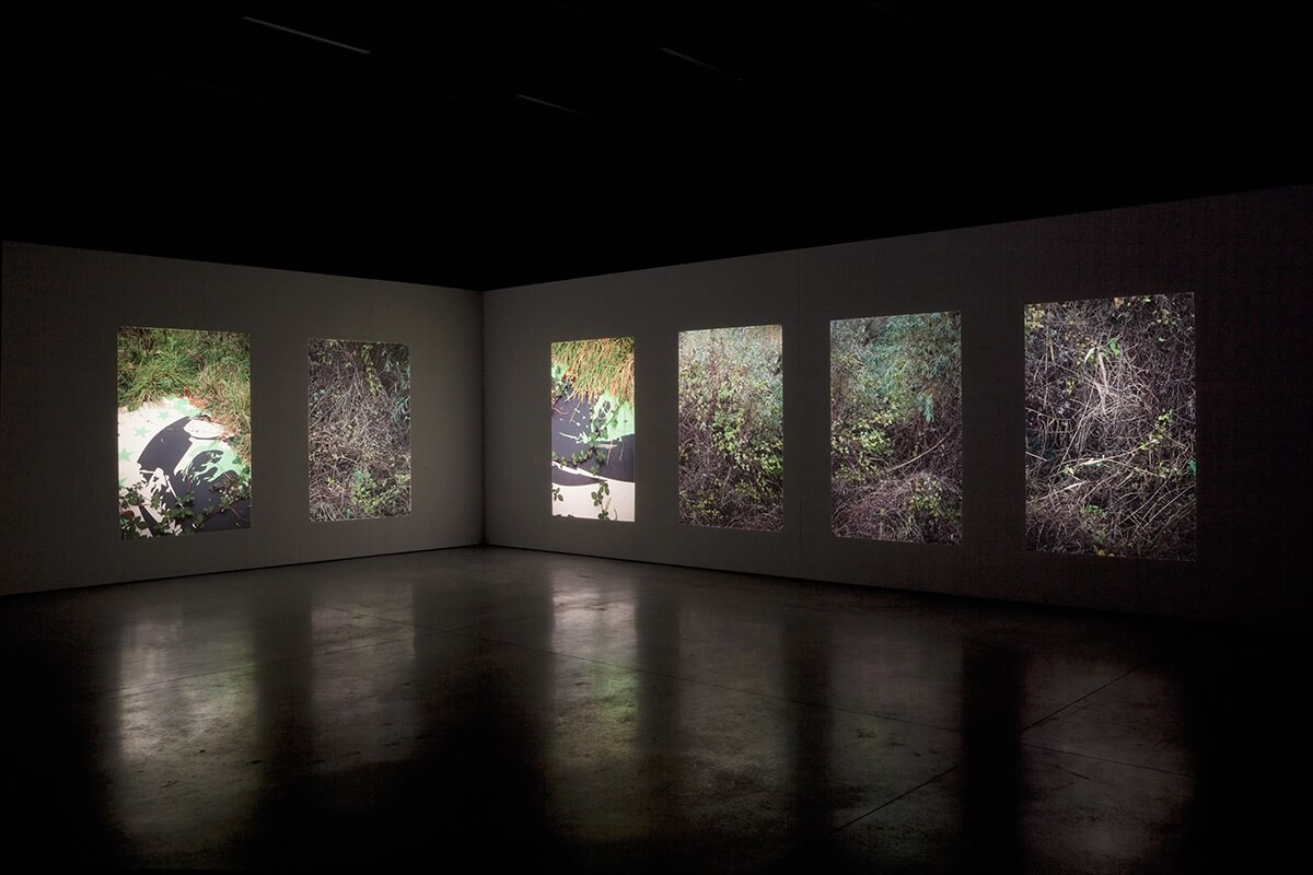 untitled (identity of place), KASK School of Arts, Ghent, 2012<br /> slide projection with 6 projectors