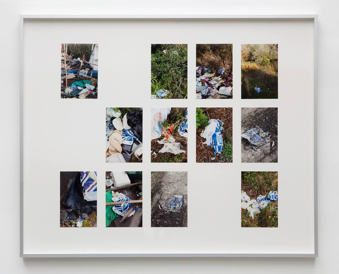 Wondelgemse Meersen. Archiv, 2012/15<br /> 12 archival pigment prints, 10 x 15 cm, mounted on cardboard, framed, 65 x 80 cm