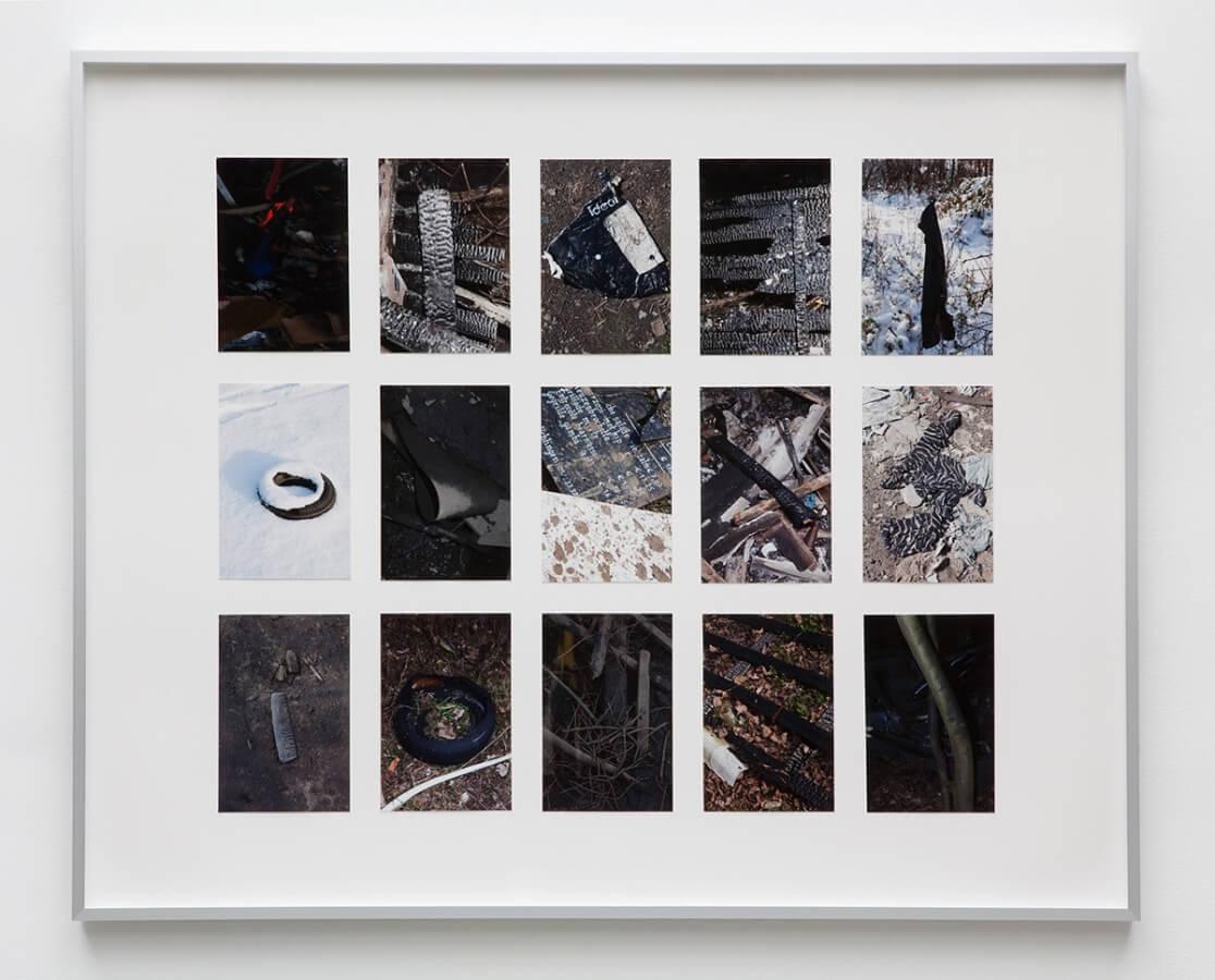 Wondelgemse Meersen. Archiv, 2012/15<br /> 15 archival pigment prints, 10 x 15 cm, mounted on cardboard, framed, 65 x 80 cm