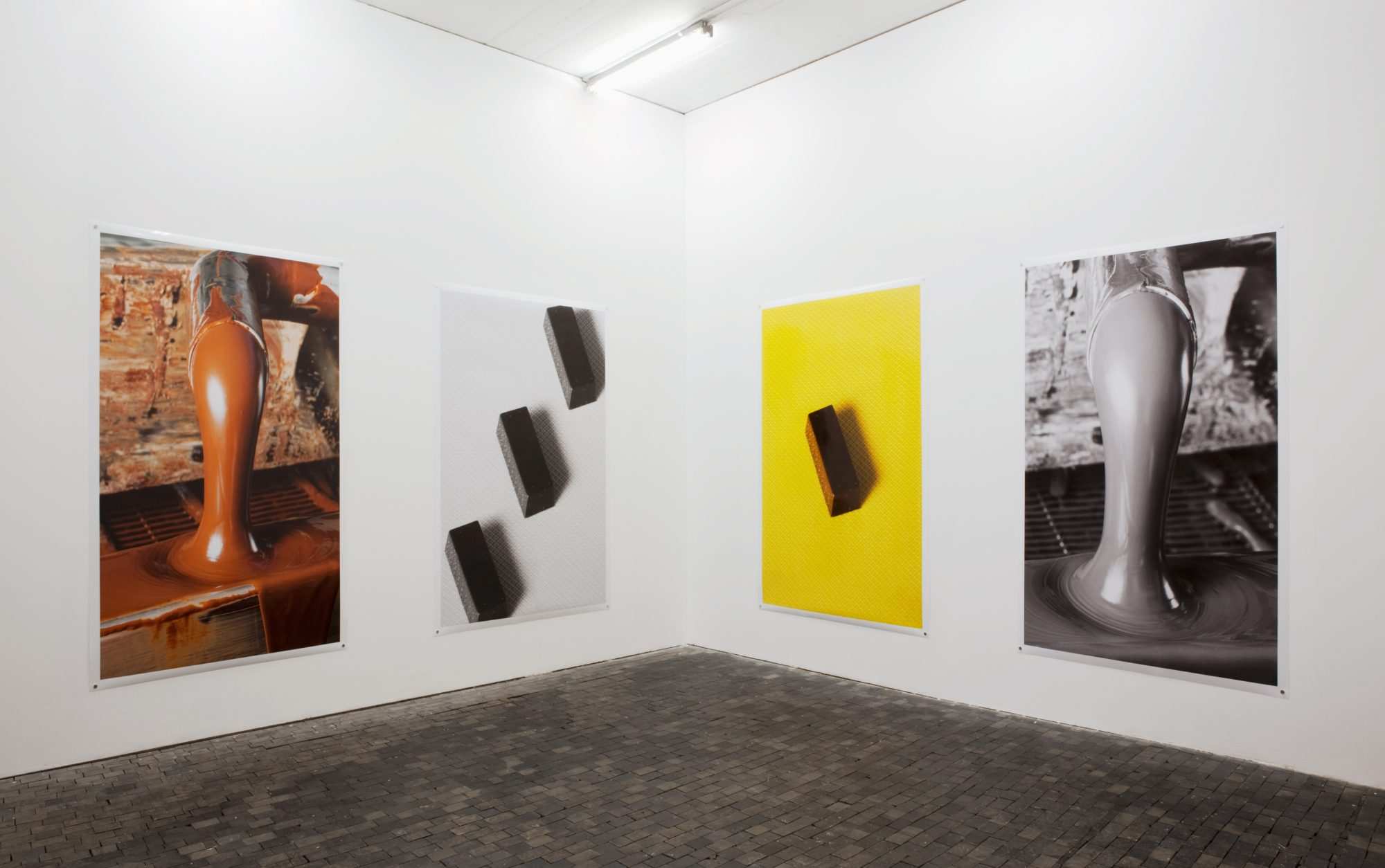 Fétichismarchandise, Centre de la photographie Genève, 2015<br /> archival pigment prints on glossy and matte paper, 223 x 152 cm