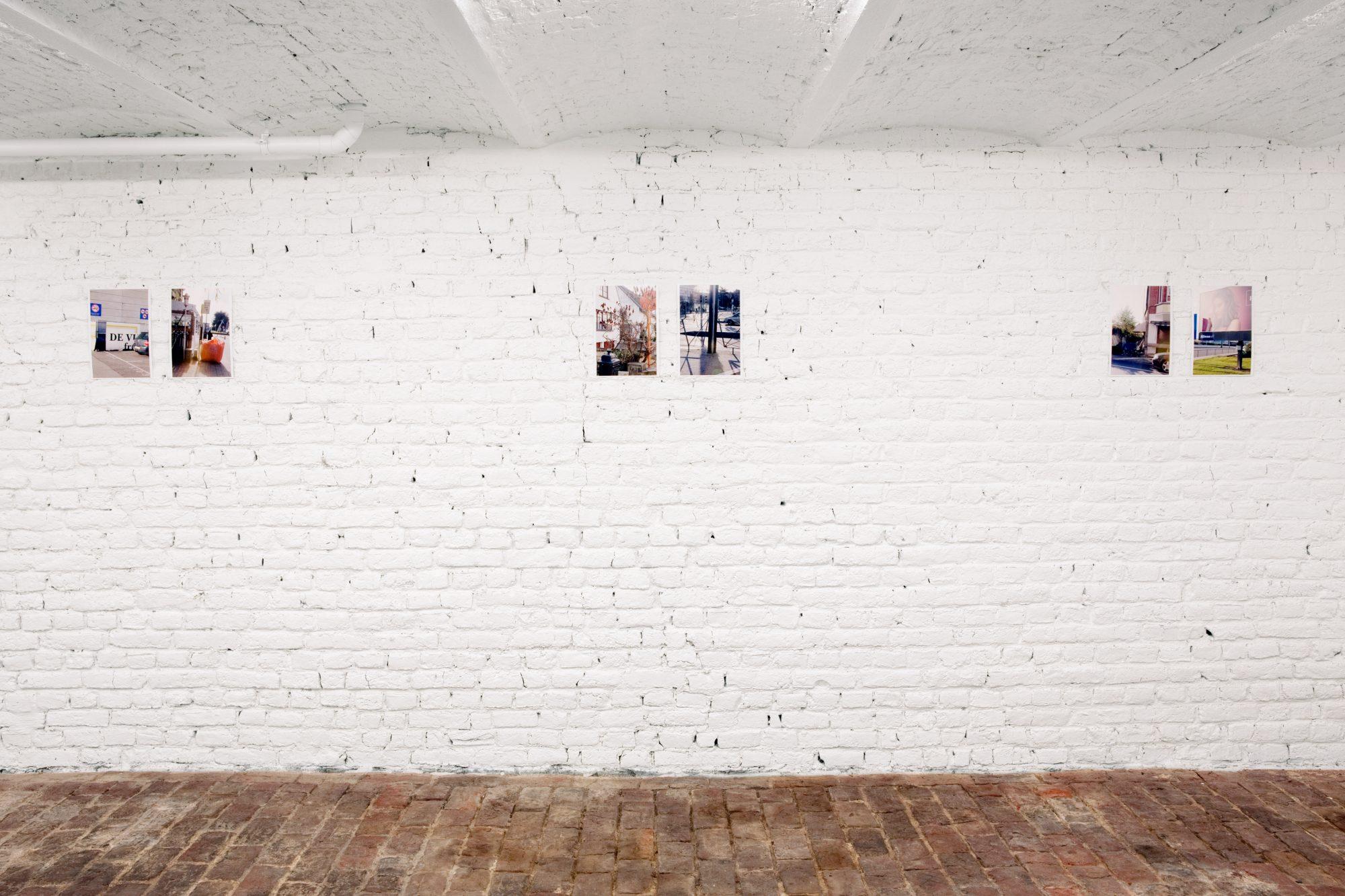 Four Oranges, Some office Buildings, Woman's Legs, Riot Gallery, Ghent, 2015<br /> archival pigment prints, 29,7 x 21 cm