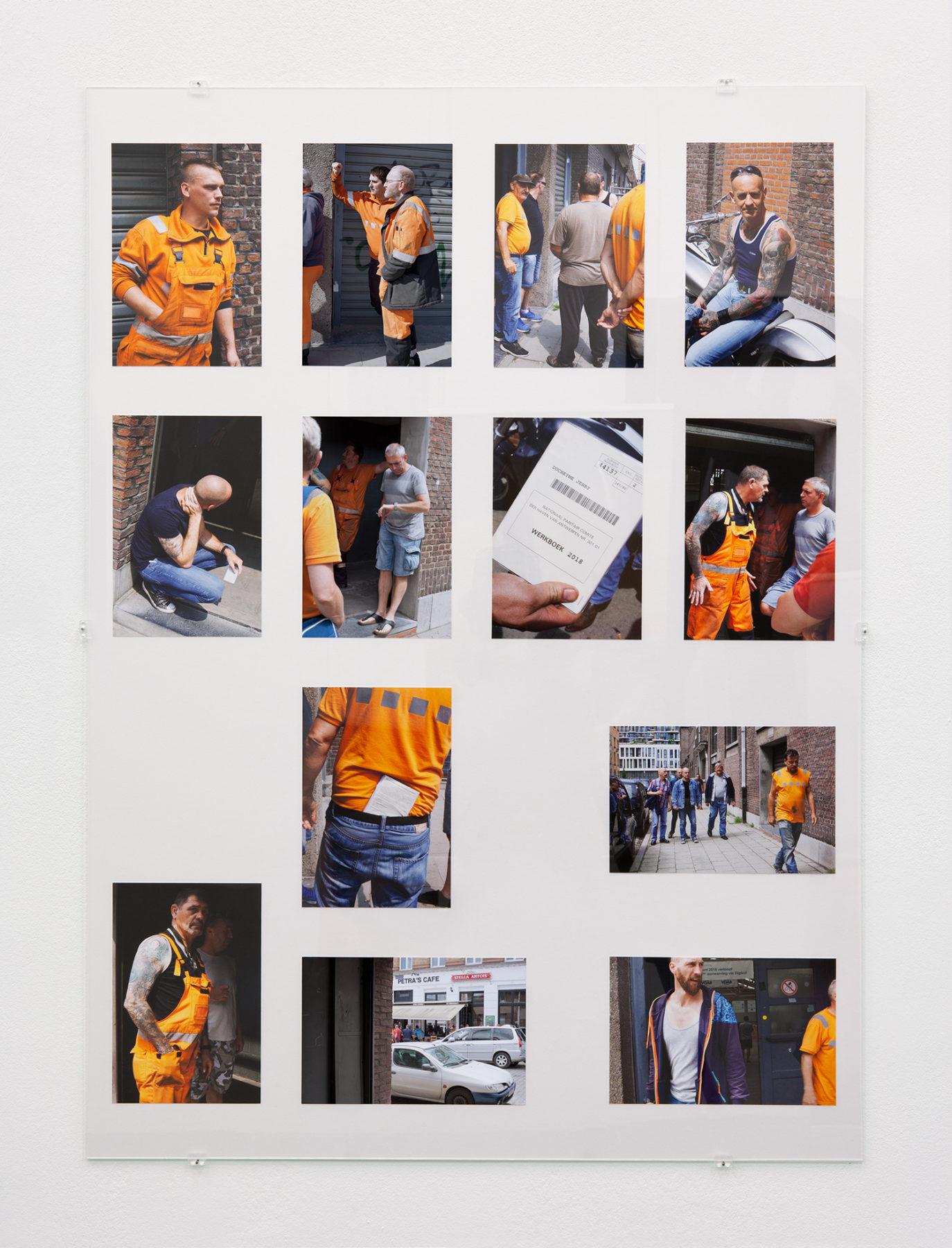 Aanwervingslokaal - Wachten, pigment prints, glass, 2018