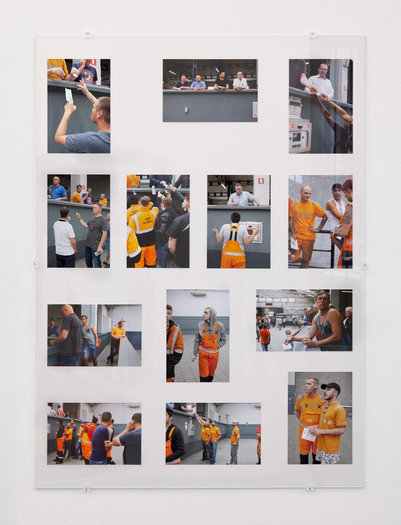 Aanwervingslokaal - Aanwerven, pigment prints, glass, 2018