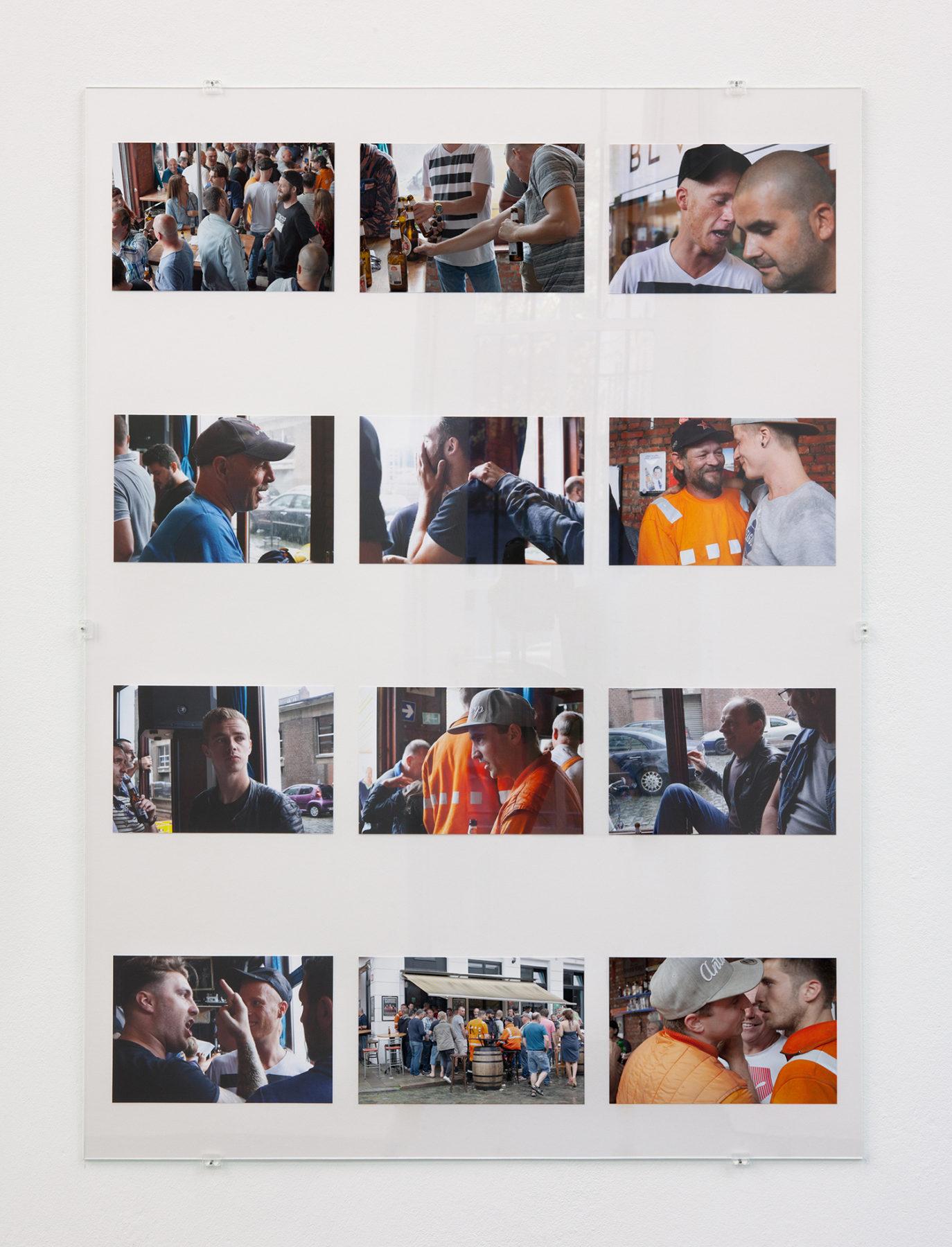 Aanwervingslokaal - Afscheidsparty, pigment prints, glass, 2018