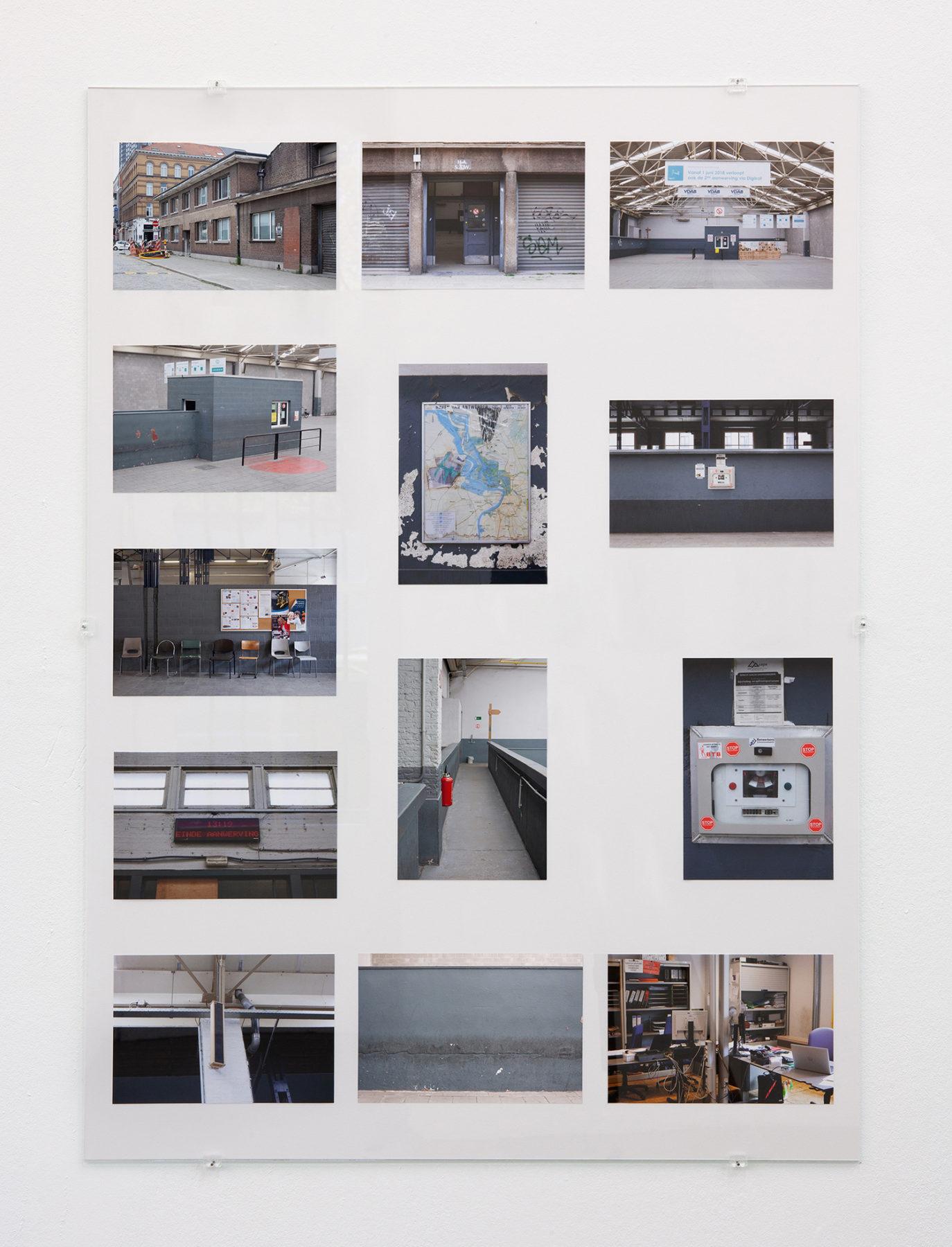 Aanwervingslokaal - Gebouww, pigment prints, glass, 2018